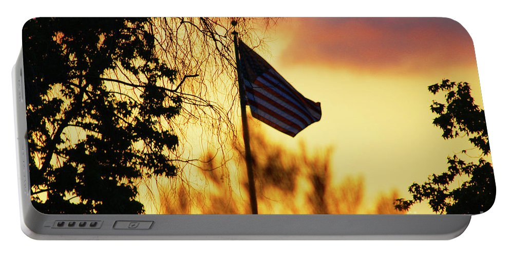 Flag Portable Battery Charger featuring the photograph Sunset In San Diego by Tommy Anderson