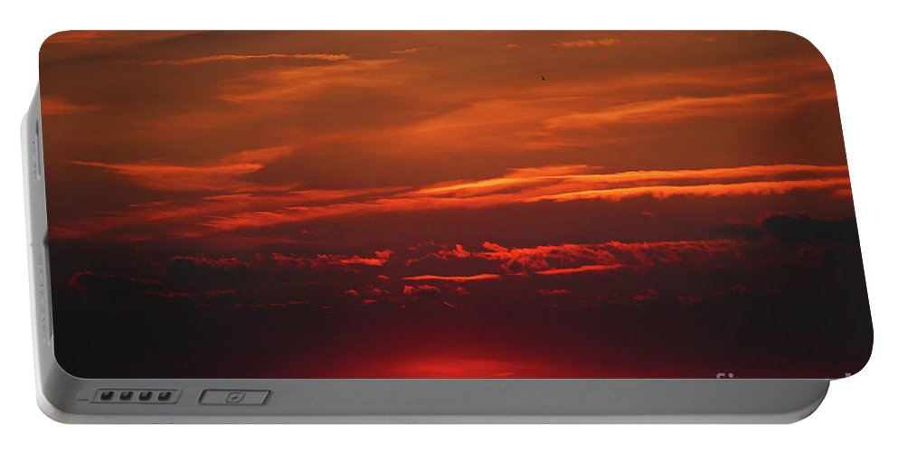 Sunset In The City Portable Battery Charger featuring the photograph Sunset In The City by Mariola Bitner