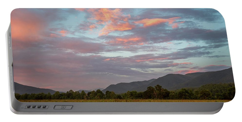 Adventure Portable Battery Charger featuring the photograph Sunset In The Mountains by Benjamin King