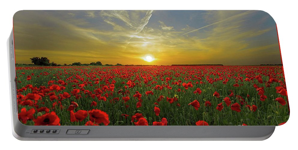 Sunset Portable Battery Charger featuring the digital art Sunset by Ivan Angelovski