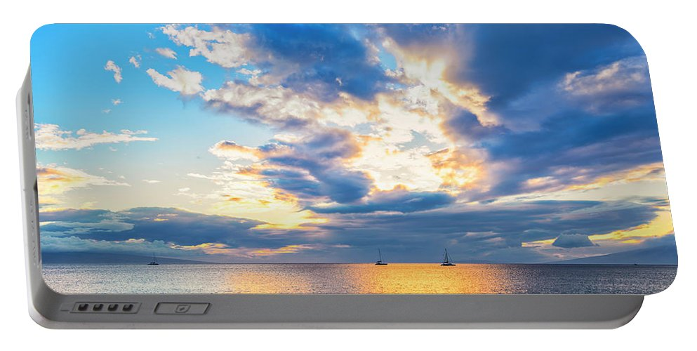 Hawaii Portable Battery Charger featuring the photograph Sunset by Jim Thompson