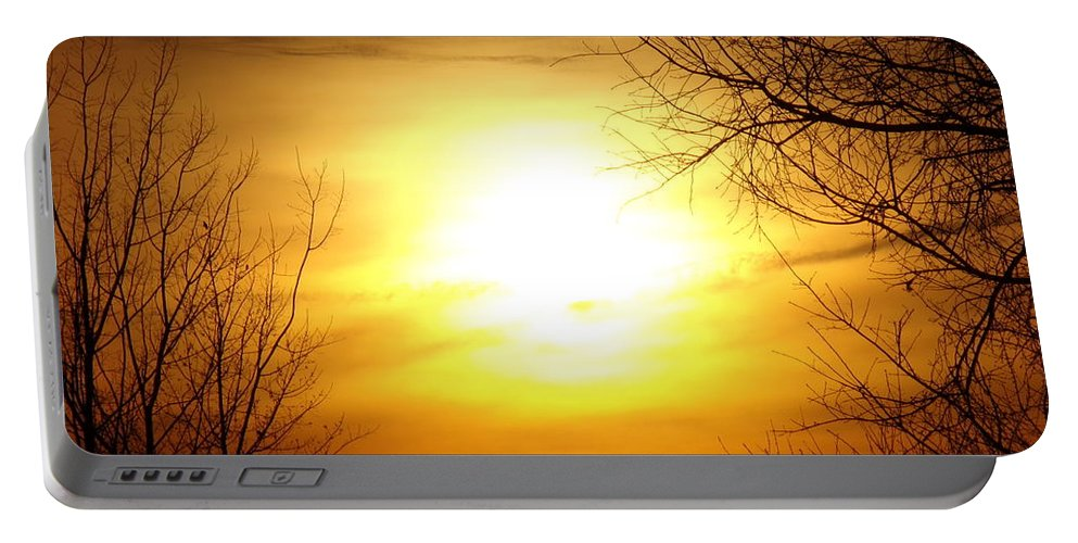 Sunset Portable Battery Charger featuring the photograph Sunset by Kayla Chapel