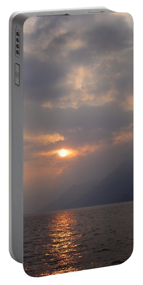 Sunset Portable Battery Charger featuring the photograph Sunset Lake Atitlan by Kurt Van Wagner