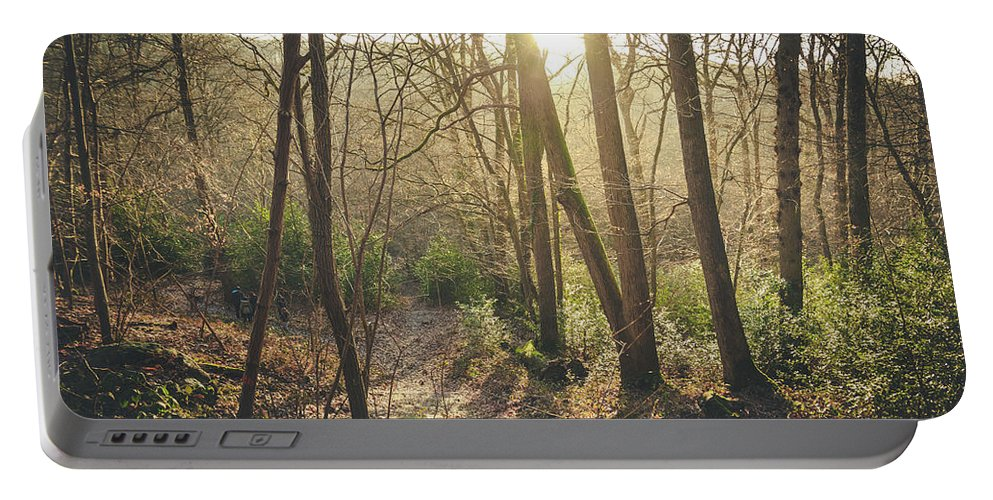Light Portable Battery Charger featuring the photograph Sunset Lights by Florian LEPREST