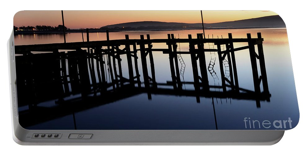 California Portable Battery Charger featuring the photograph Sunset Magic Bodega Bay California by Bob Christopher