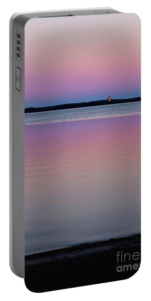 Sunset Portable Battery Charger featuring the photograph Sunset Magic by Laura Kinker