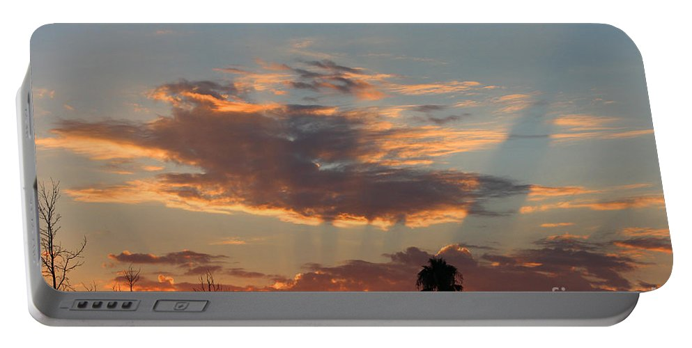Sunset Portable Battery Charger featuring the photograph Sunset Moreno Valley Ca by Tommy Anderson