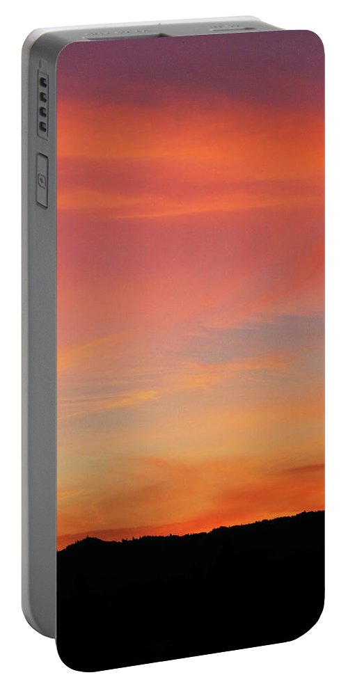 Pink Portable Battery Charger featuring the photograph Sunset Off Of Kings Hwy by Teri Schuster