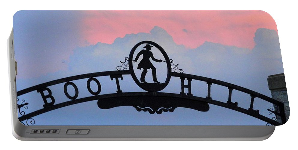 Boot Hill Portable Battery Charger featuring the photograph Sunset On Boot Hill by Cindy New