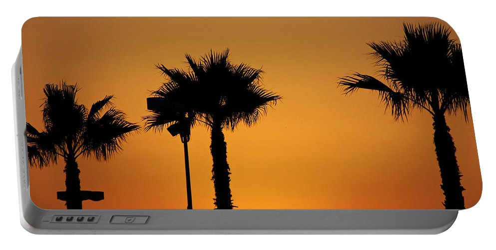 Clay Portable Battery Charger featuring the photograph Sunset On Socal Beach by Clayton Bruster