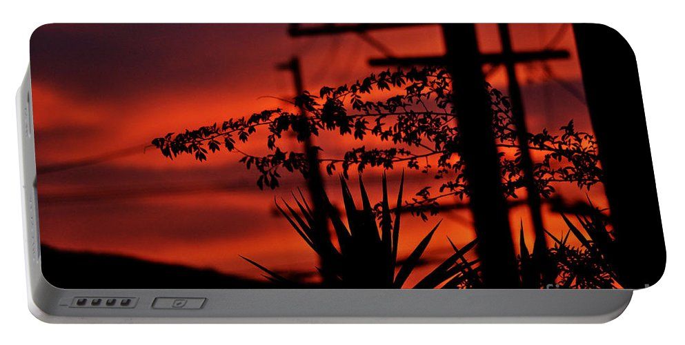 Clay Portable Battery Charger featuring the photograph Sunset On Socal Suburb by Clayton Bruster
