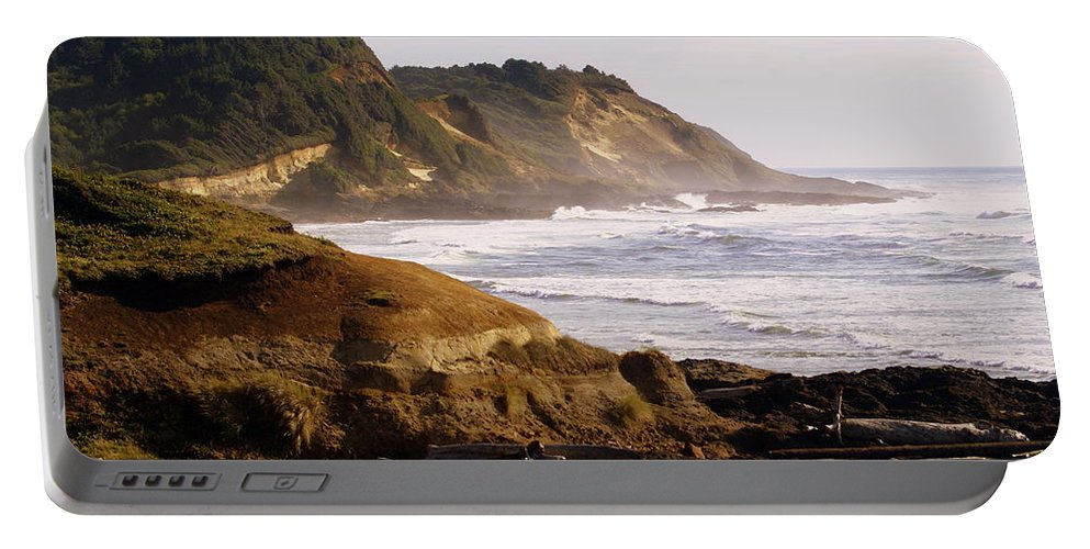 Ocean Portable Battery Charger featuring the photograph Sunset On The Coast by Marty Koch