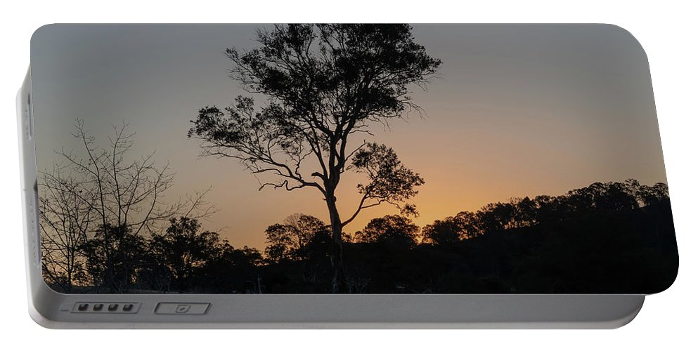 Acreage Portable Battery Charger featuring the photograph Sunset - Out In The Country by Merrillie Redden