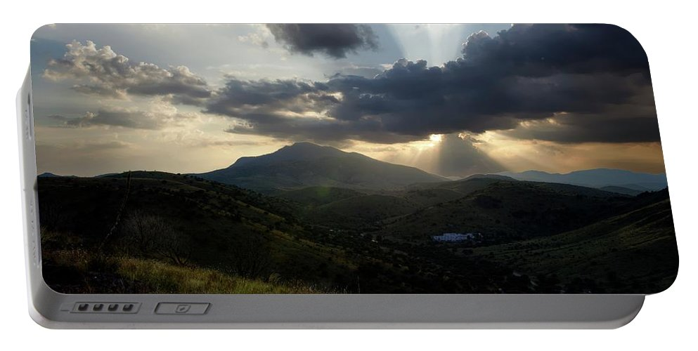 Indian Springs Portable Battery Charger featuring the photograph Sunset over Indian Springs by Roy Nierdieck