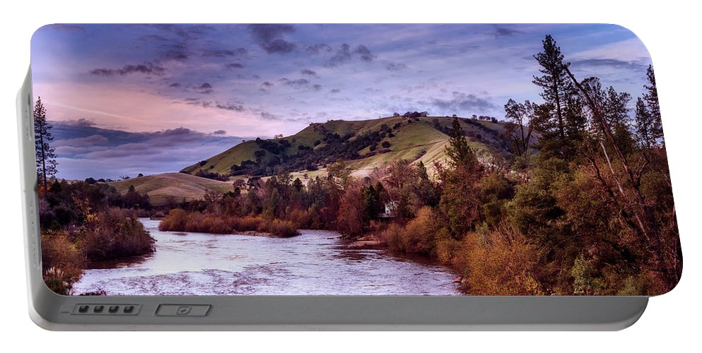 American River Portable Battery Charger featuring the photograph Sunset Over The American River by Mountain Dreams