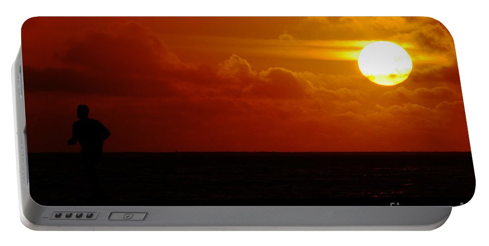 Clay Portable Battery Charger featuring the photograph Sunset Over The Pacific by Clayton Bruster