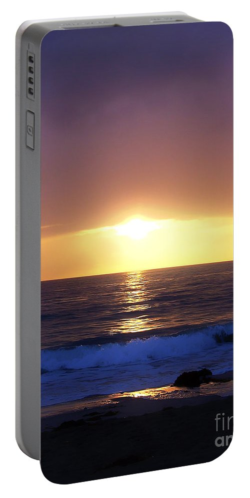 California Portable Battery Charger featuring the photograph Sunset Over The Pacific by Phil Perkins
