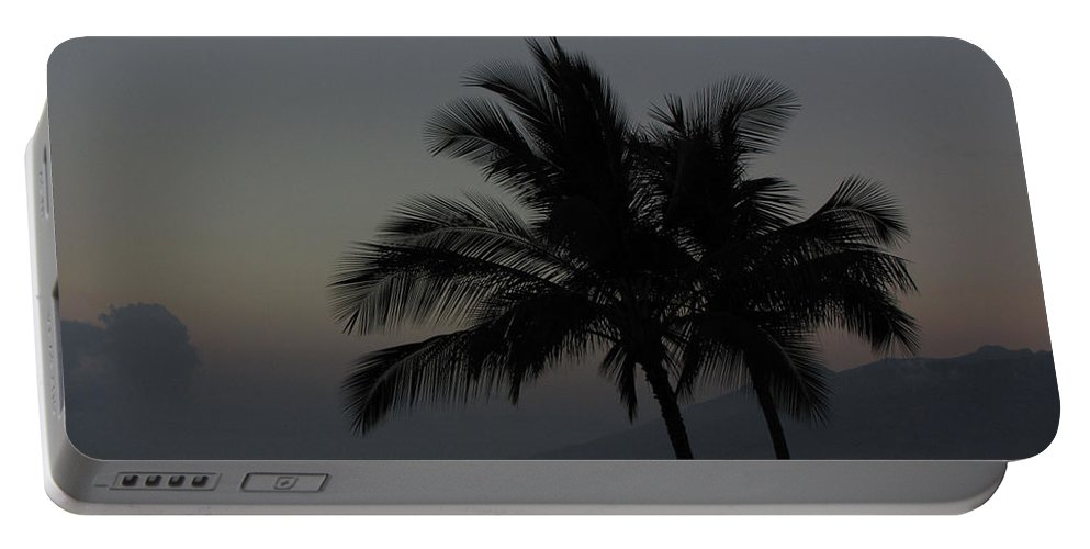 Sunset Portable Battery Charger featuring the photograph Sunset Palm by Sarah Houser