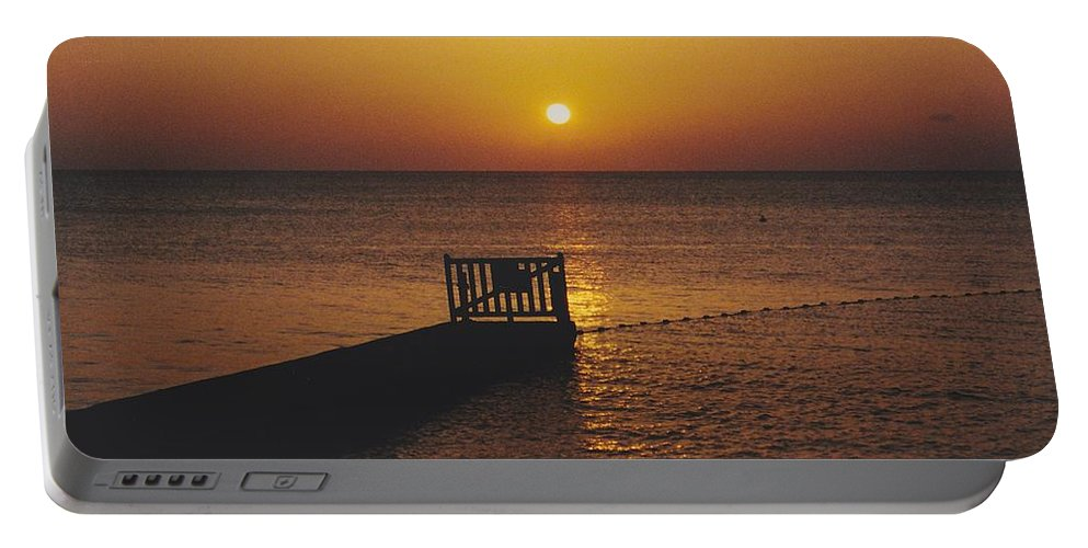 Sunsets Portable Battery Charger featuring the photograph Sunset Pier by Michelle Powell