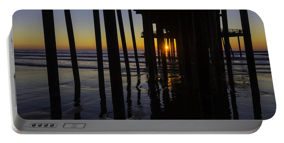 Pismo Beach Portable Battery Charger featuring the photograph Sunset Pismo Beach by Garry Gay