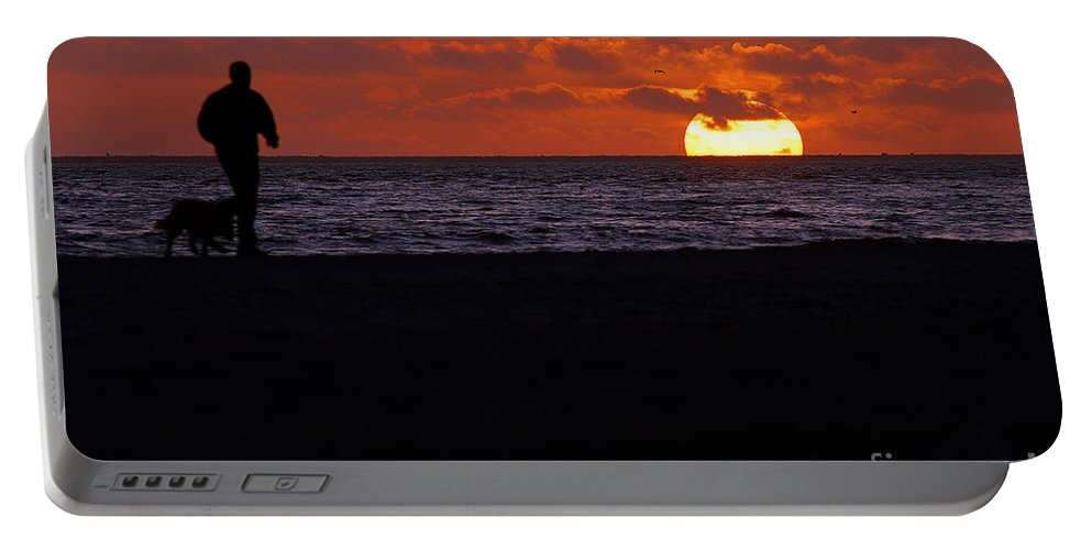 Clay Portable Battery Charger featuring the photograph Sunset Run by Clayton Bruster