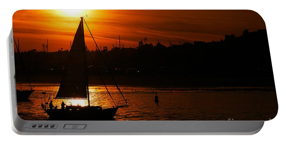 Clay Portable Battery Charger featuring the photograph Sunset Sailing by Clayton Bruster