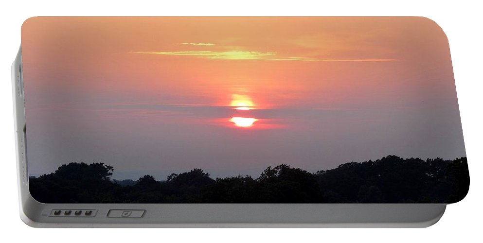 Sunset Portable Battery Charger featuring the photograph Sunset by Scenic Sights By Tara