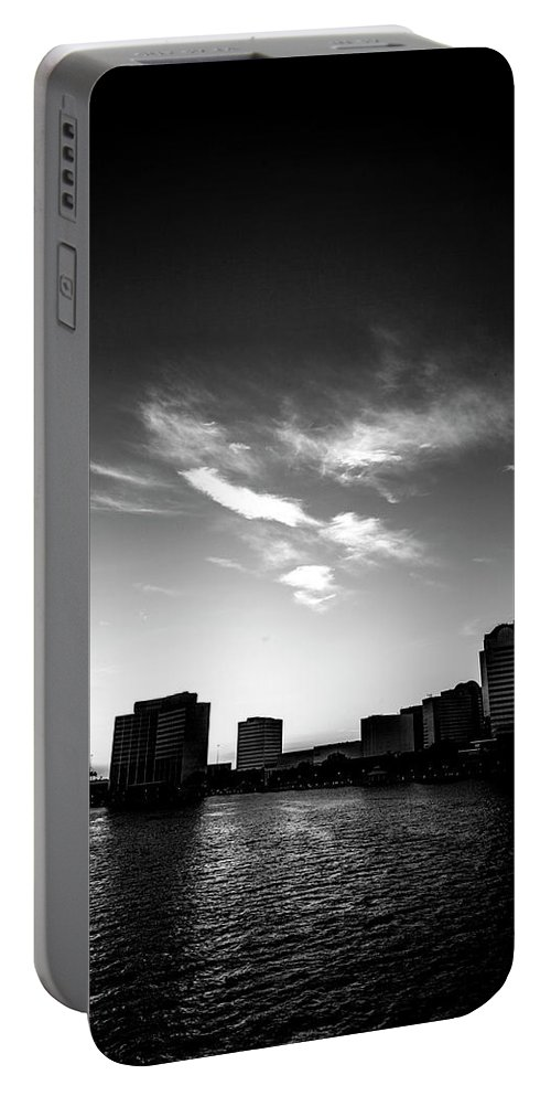 Cityscape Portable Battery Charger featuring the photograph Sunset Silhouette by Eric Christopher Jackson