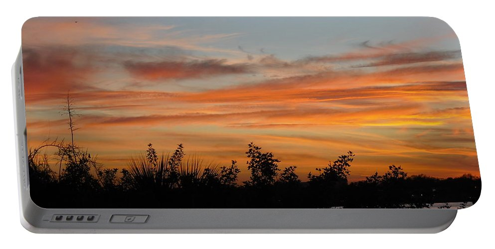 Sun Portable Battery Charger featuring the photograph Sunset Silhouette by Mandy Shupp