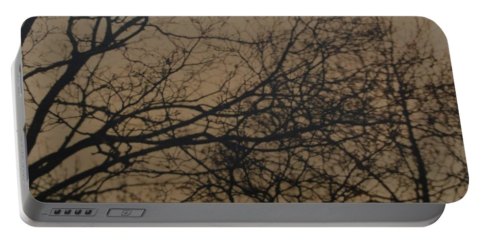 Landscape Portable Battery Charger featuring the photograph Sunset Snow by Rob Hans