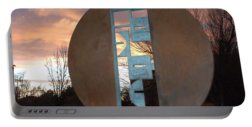 Pop Art Portable Battery Charger featuring the photograph Sunset Thru Art by Rob Hans