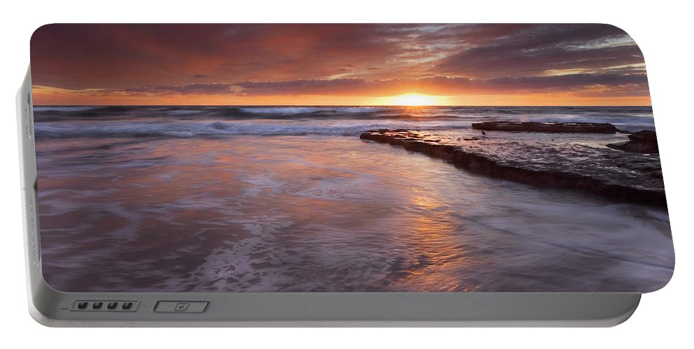 A Glorious Sunset Off The Coast Of San Diego Portable Battery Charger featuring the photograph Sunset Tides by Mike Dawson