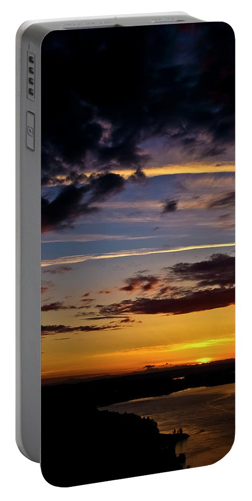 Sunset Portable Battery Charger featuring the photograph Sunset Vista by Albert Seger
