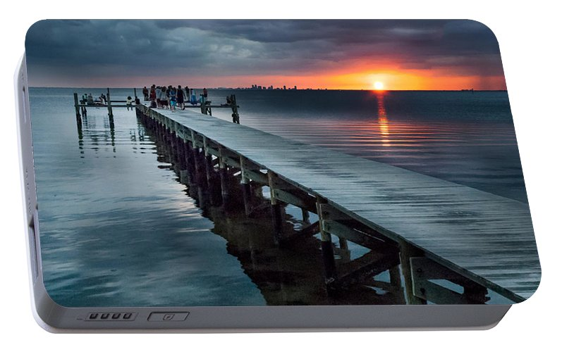 Sunset Portable Battery Charger featuring the photograph Sunset Watch by Norman Johnson