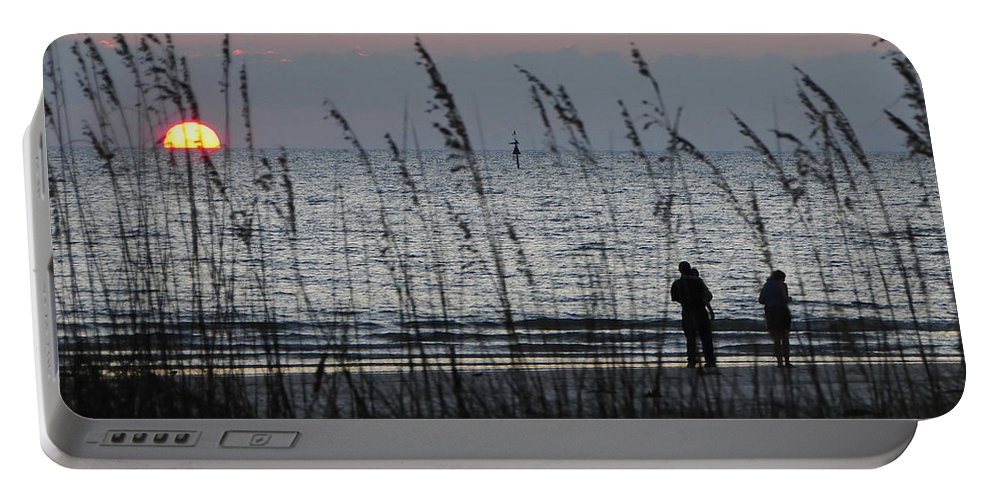 Sunset Portable Battery Charger featuring the photograph Sunset Watching by David Lee Thompson