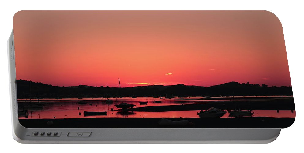 Sunset Portable Battery Charger featuring the photograph Sunset With Pink Afterglow by Jeff Townsend