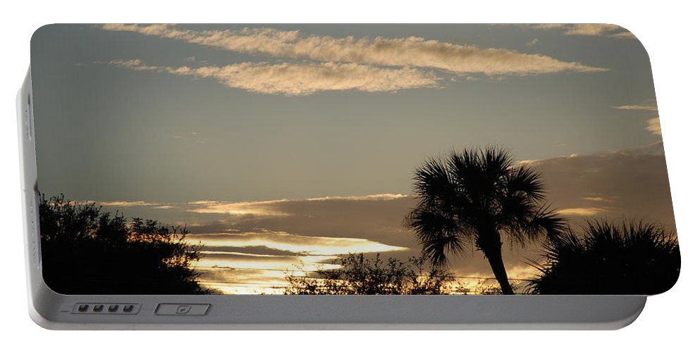 Clouds Palm Trees Portable Battery Charger featuring the photograph Sunsets In The West by Rob Hans