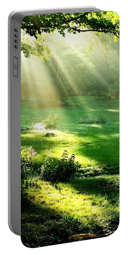 Water Portable Battery Charger featuring the photograph Sunshine by Lord Frederick Lyle Morris