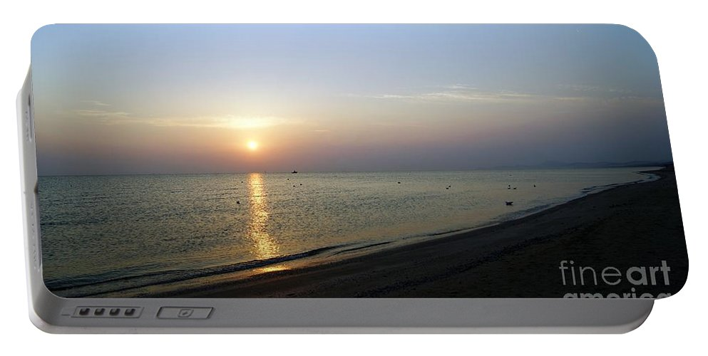 Morning Sunshine Portable Battery Charger featuring the photograph Sunshine1 by LDS Dya
