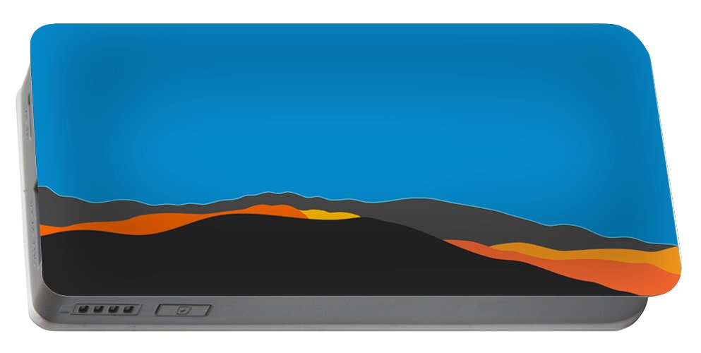Palm Springs Portable Battery Charger featuring the digital art Sunst Range San Jacintos by Stan Magnan