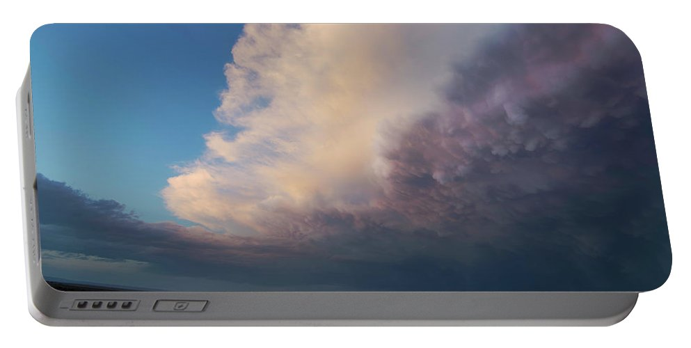Sky Portable Battery Charger featuring the photograph Super Cell 1 by Chris Long