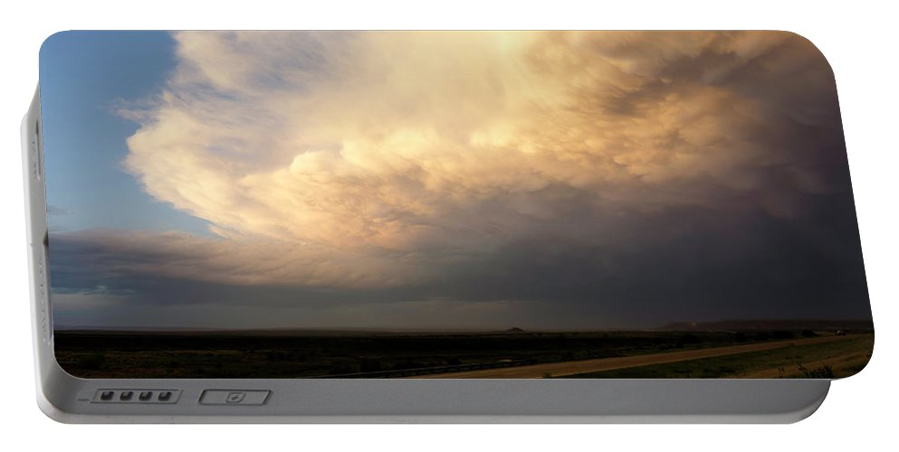 Landscape Portable Battery Charger featuring the photograph Super Cell 2 by Chris Long