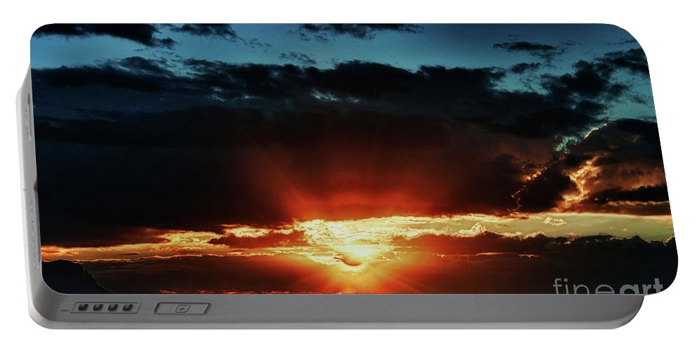 Arizona Portable Battery Charger featuring the photograph Superstition Sunrise by Saija Lehtonen
