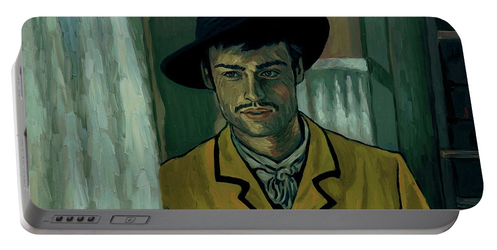 Portable Battery Charger featuring the painting Sure by Elizabeth Hristova - Lisa