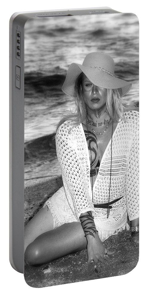 Man Portable Battery Charger featuring the photograph Surf Side Intrigue by Lori Seaman