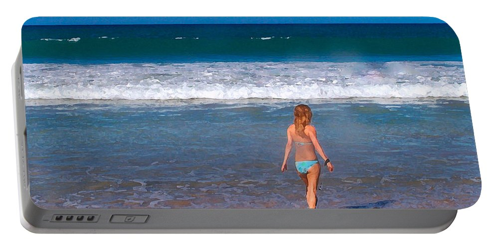 Ocean Portable Battery Charger featuring the photograph Surf Up by Athala Carole Bruckner
