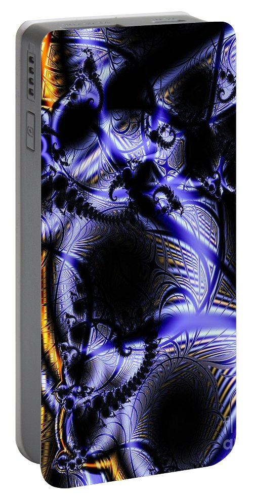 Surface Pattern Portable Battery Charger featuring the digital art Surface Pattern by Ron Bissett