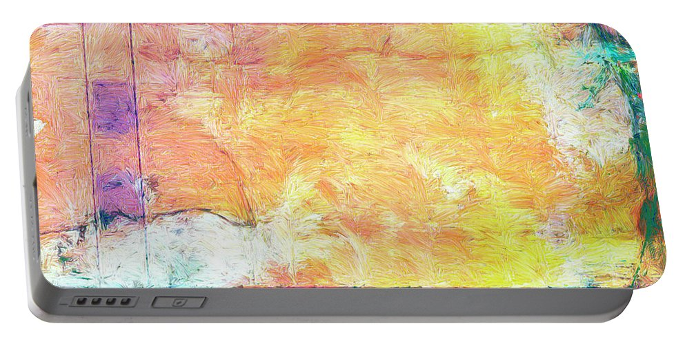 Abstract Portable Battery Charger featuring the painting Surface Vector by Dominic Piperata