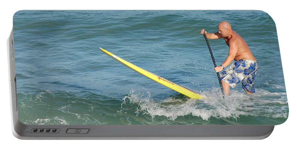 Sea Scape Portable Battery Charger featuring the photograph Surfer Dude by Rob Hans