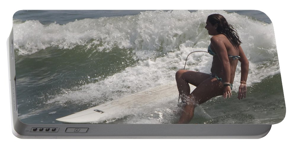 Surfing Portable Battery Charger featuring the photograph Surfer Girl by Steven Natanson